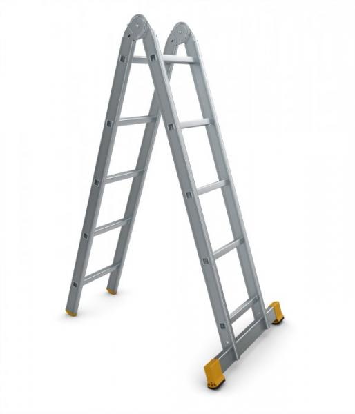 4207 - žebřík dvoudílný kloubový 2 x 7 příček