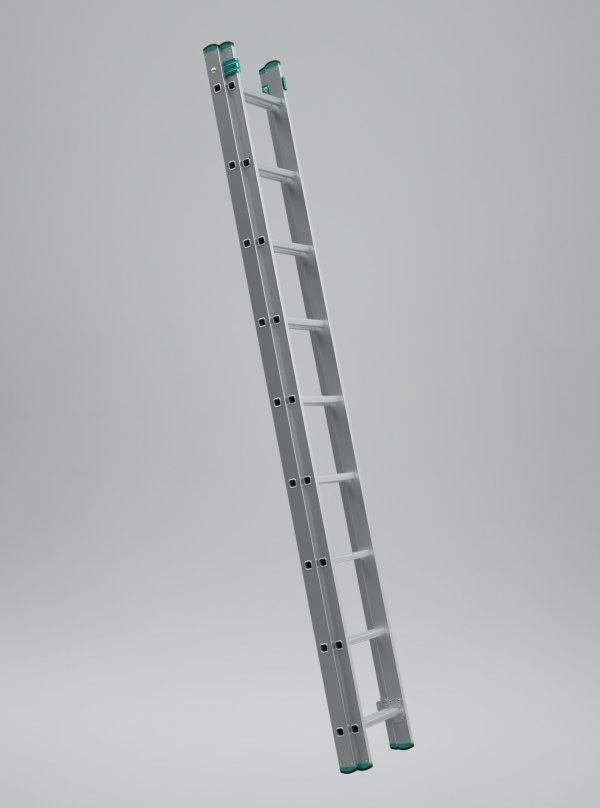 7209 - dvoudílný výsuvný žebřík 2 x 9 příček