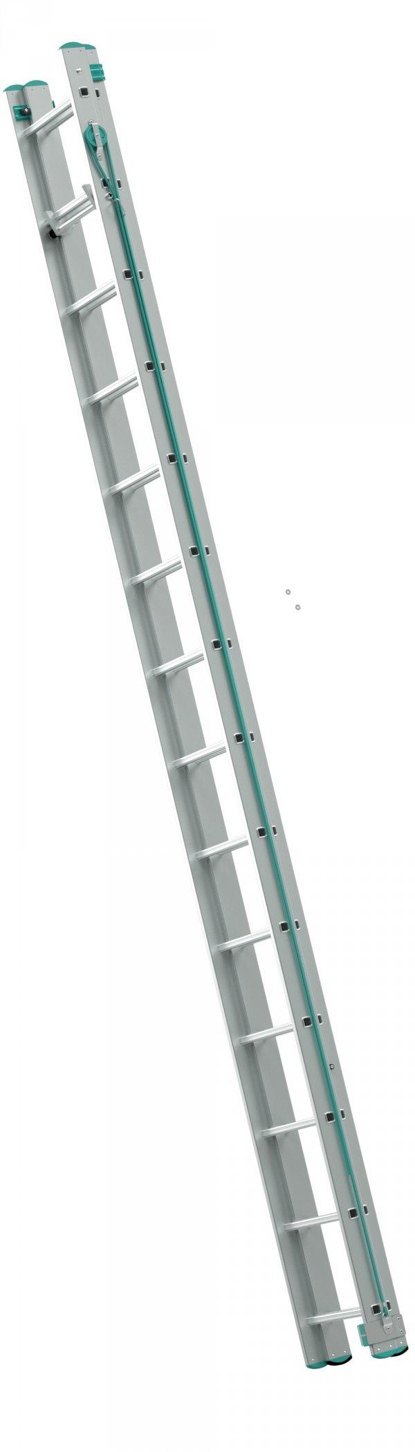 7316 - dvoudílný lanový žebřík 2 x 16 příček