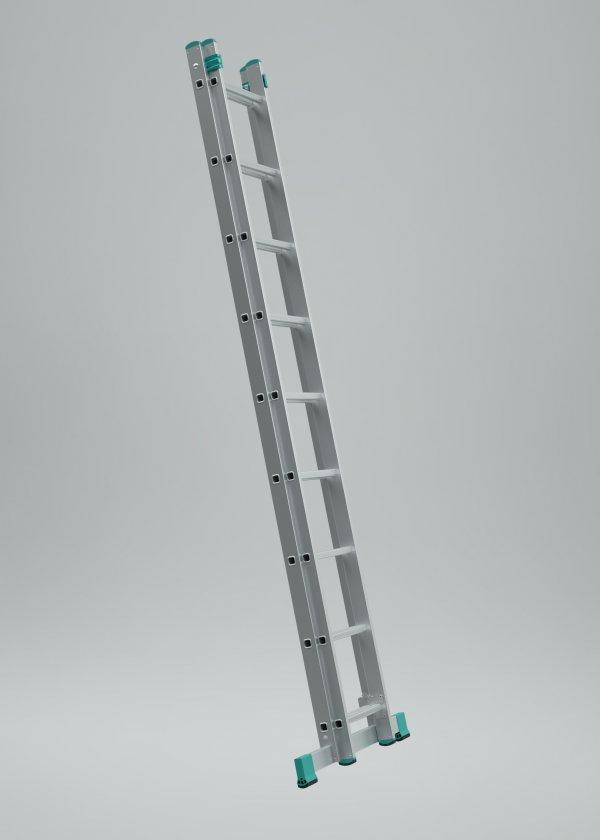 7509 - žebřík dvoudílný univerzální 2 x 9 příček