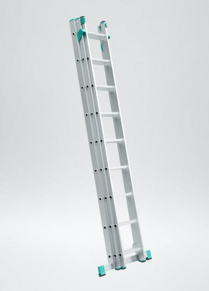 7807 - žebřík trojdílný univerzální s úpravou na schody 3 x 7 příček