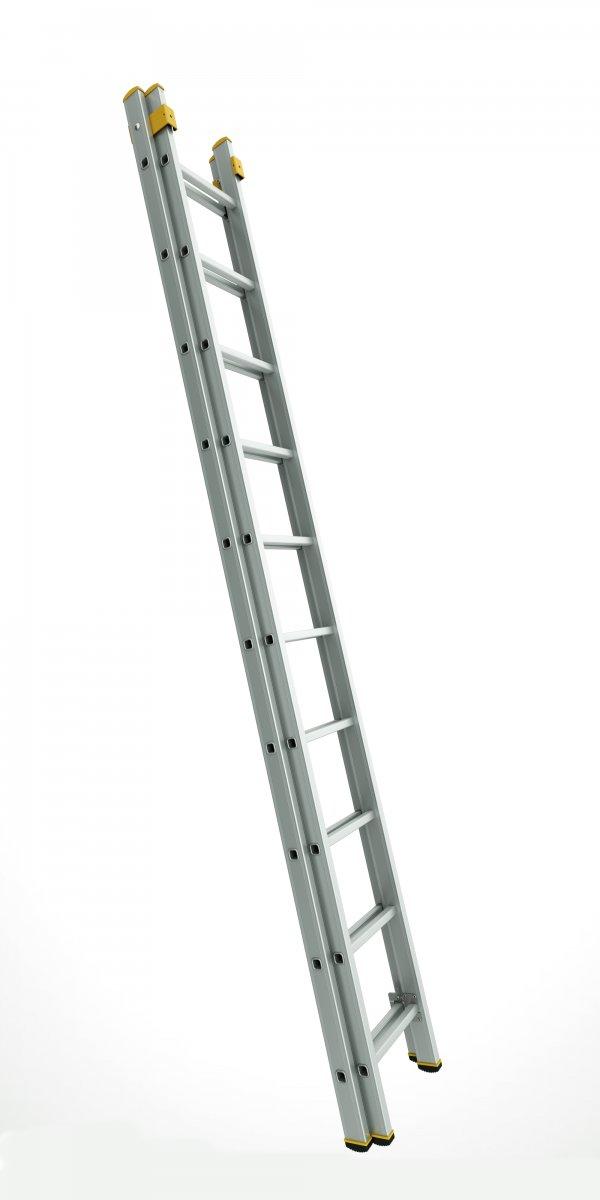 8218 - dvoudílný výsuvný žebřík 2 x 18 příček