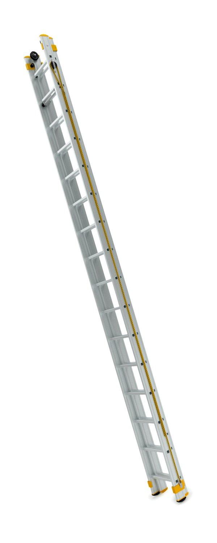 8320 - dvoudílný výsuvný žebřík s lanem 2 x 20 příček