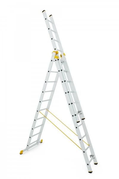 8610 - trojdílný univerzální žebřík 3 x 10 příček