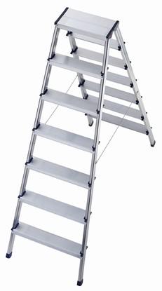 8657-001 hliníkové štafle 2x7 stupňů