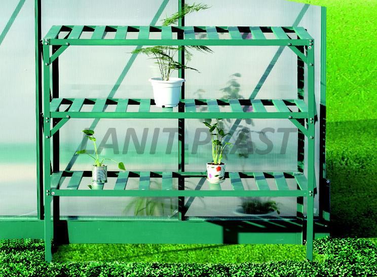 AL regál třípolicový (126x50 cm) zelená barva