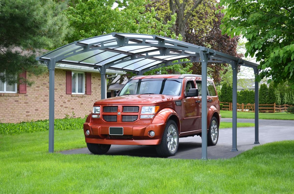 Arcadia 5000 - hliníkový (montovaný) přístřešek s obloukovou střechou