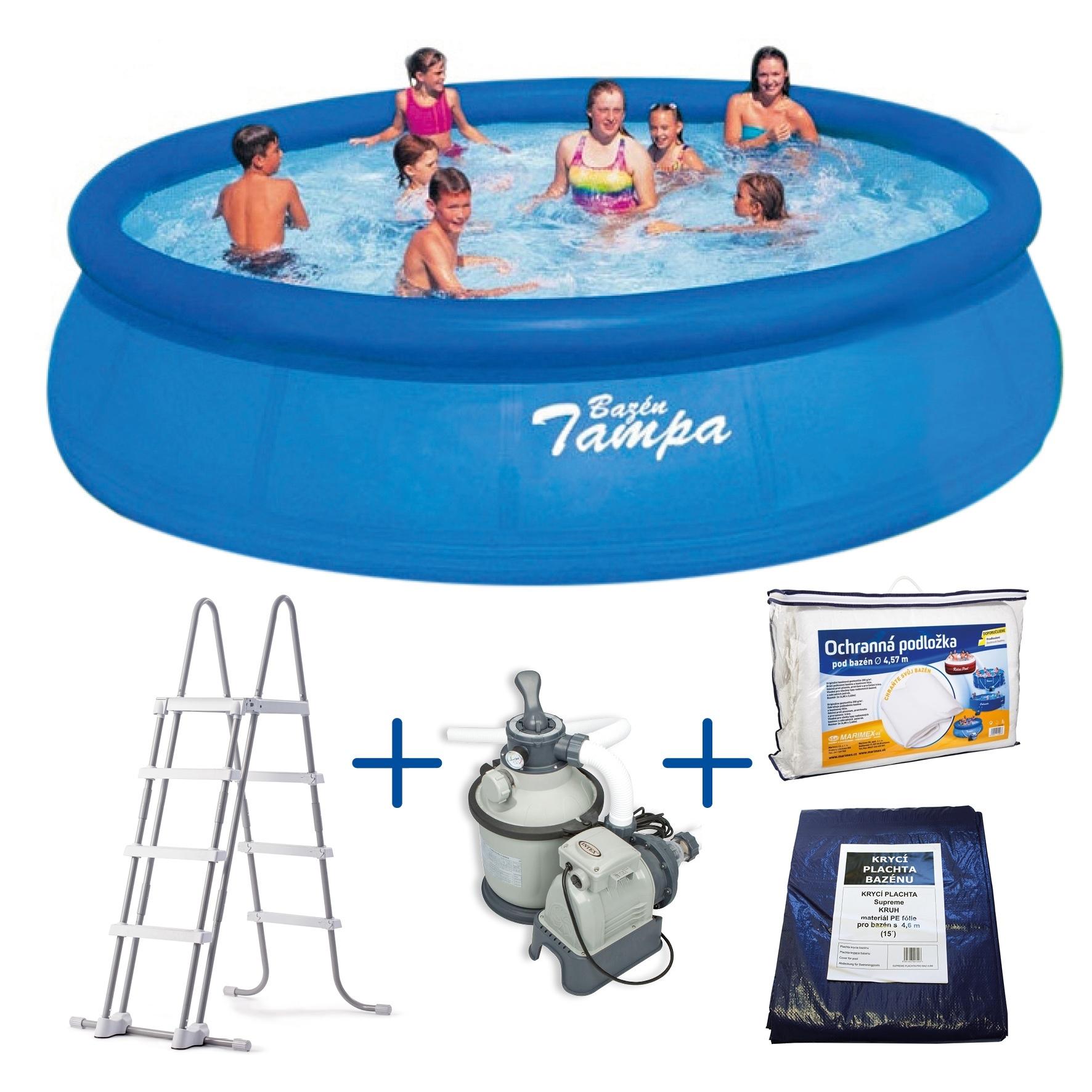 Bazén Tampa 4,57x1,22 m s pískovou filtrací Sand 4