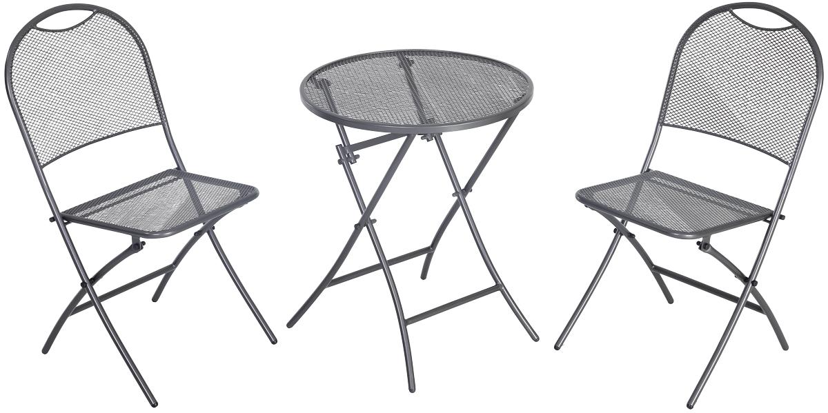 Café Latte - balkonový set 2x židle (55 x 46 x 89 cm) + 1x kulatý stůl (pr. 60 cm)