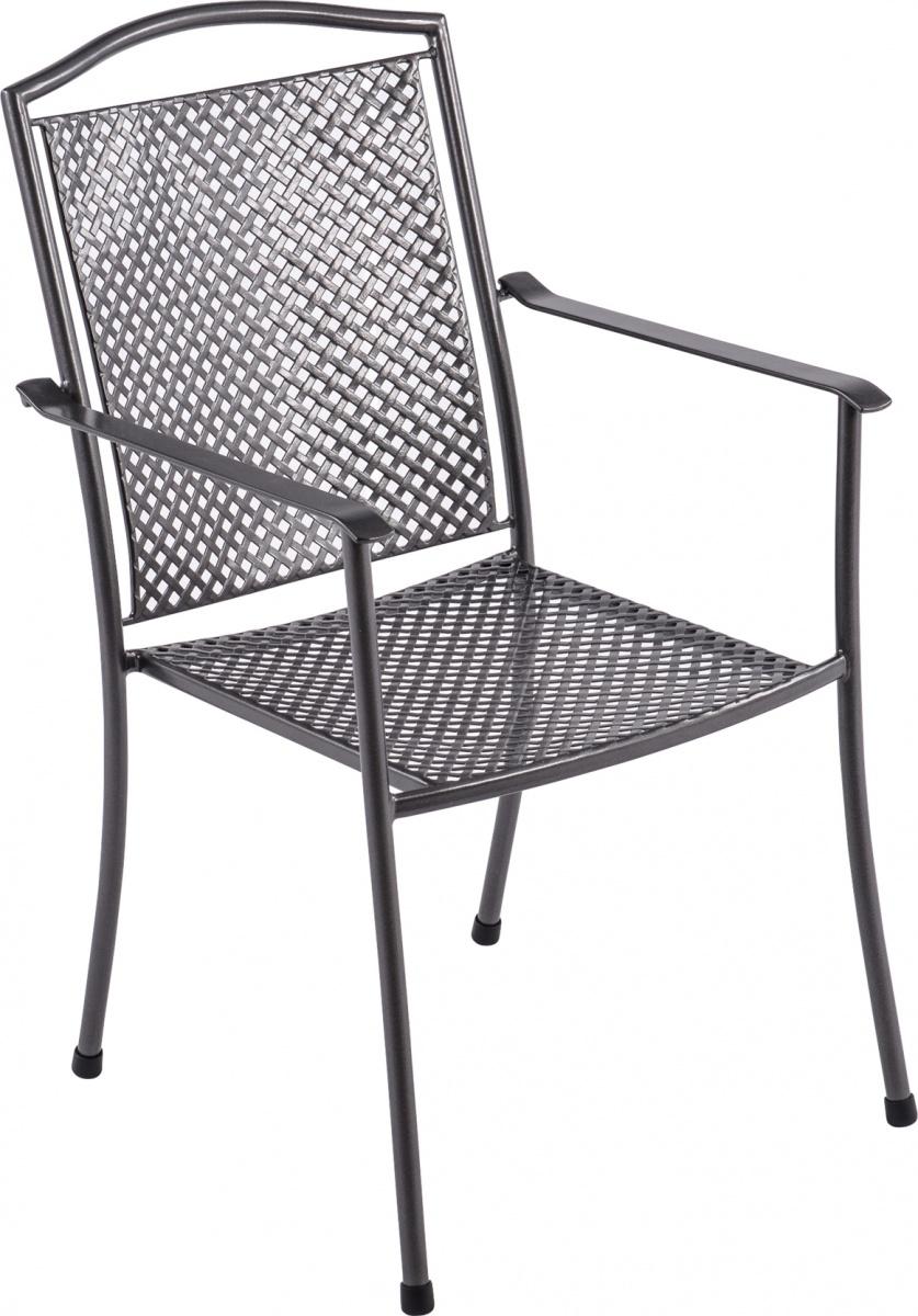 Domino steel - stohovatelná židle z tahokovu 66,5 x 55,5 x 92,5 cm