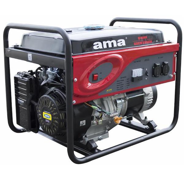 Elektrocentrála AMA s elektrickým startérem 5,5 kW, benzin, 230 V
