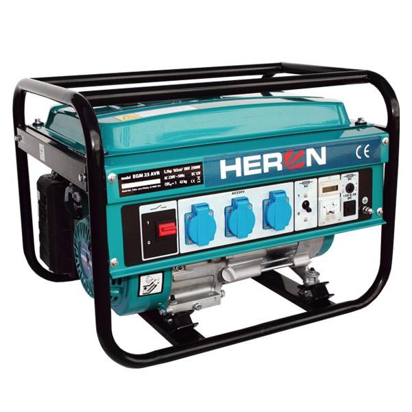 HERON EGM 25 AVR - benzínová elektrocentrála 2 300 W / 5,5 HP