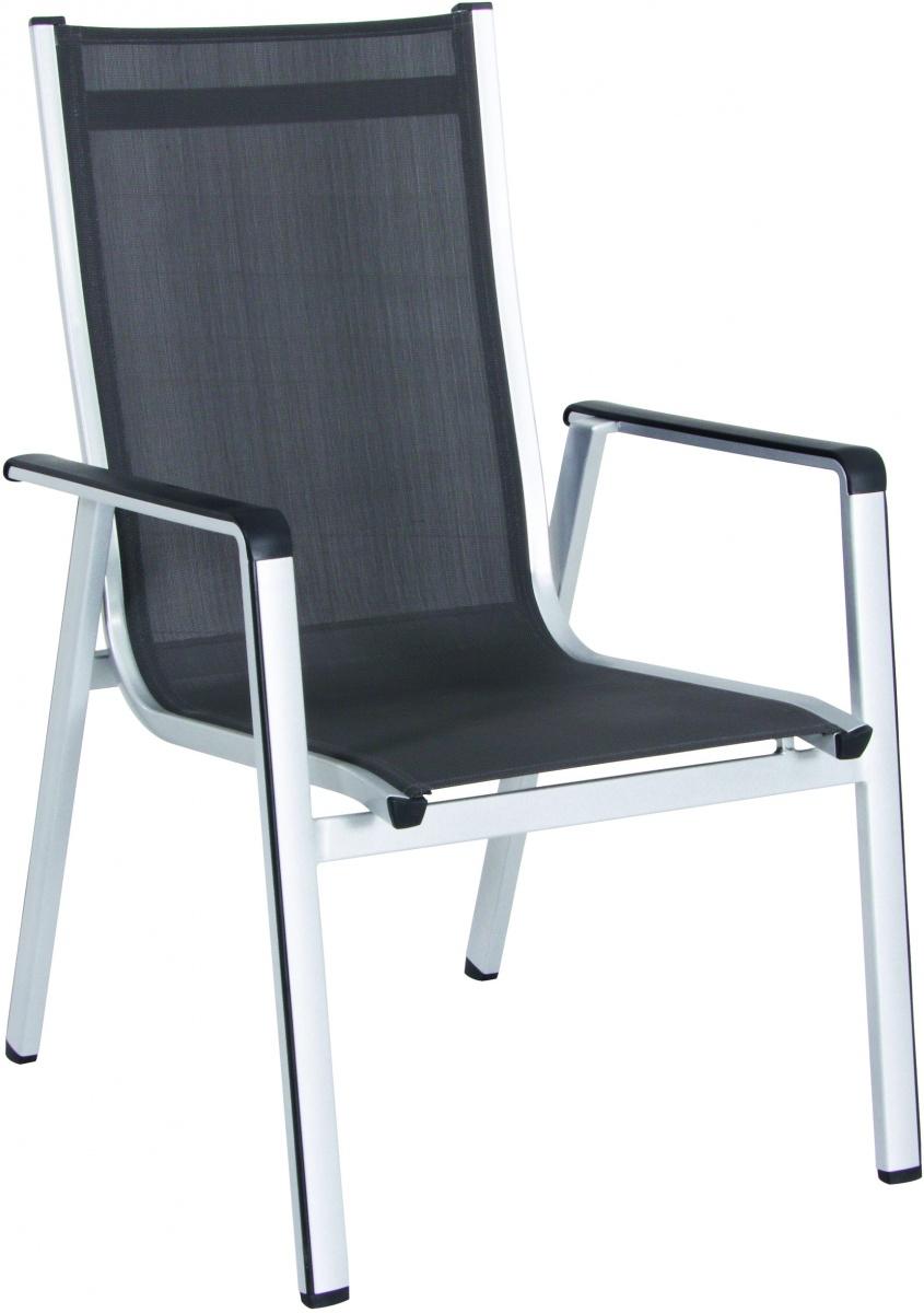 Elements - hliníková stohovatelná židle 69 x 64 x 98 cm