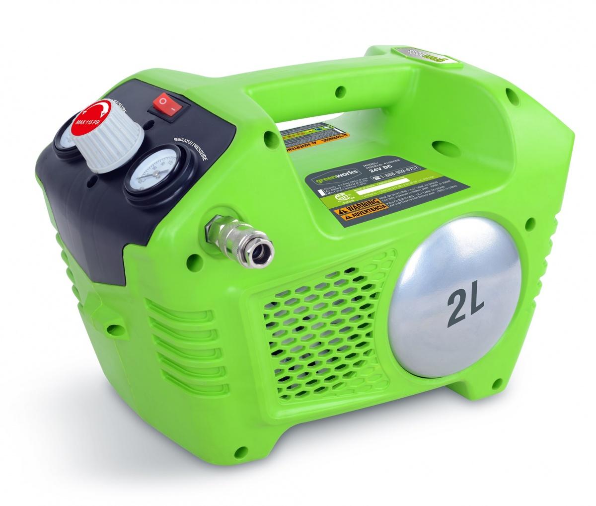 Greenworks G40AC - aku bezolejový kompresor