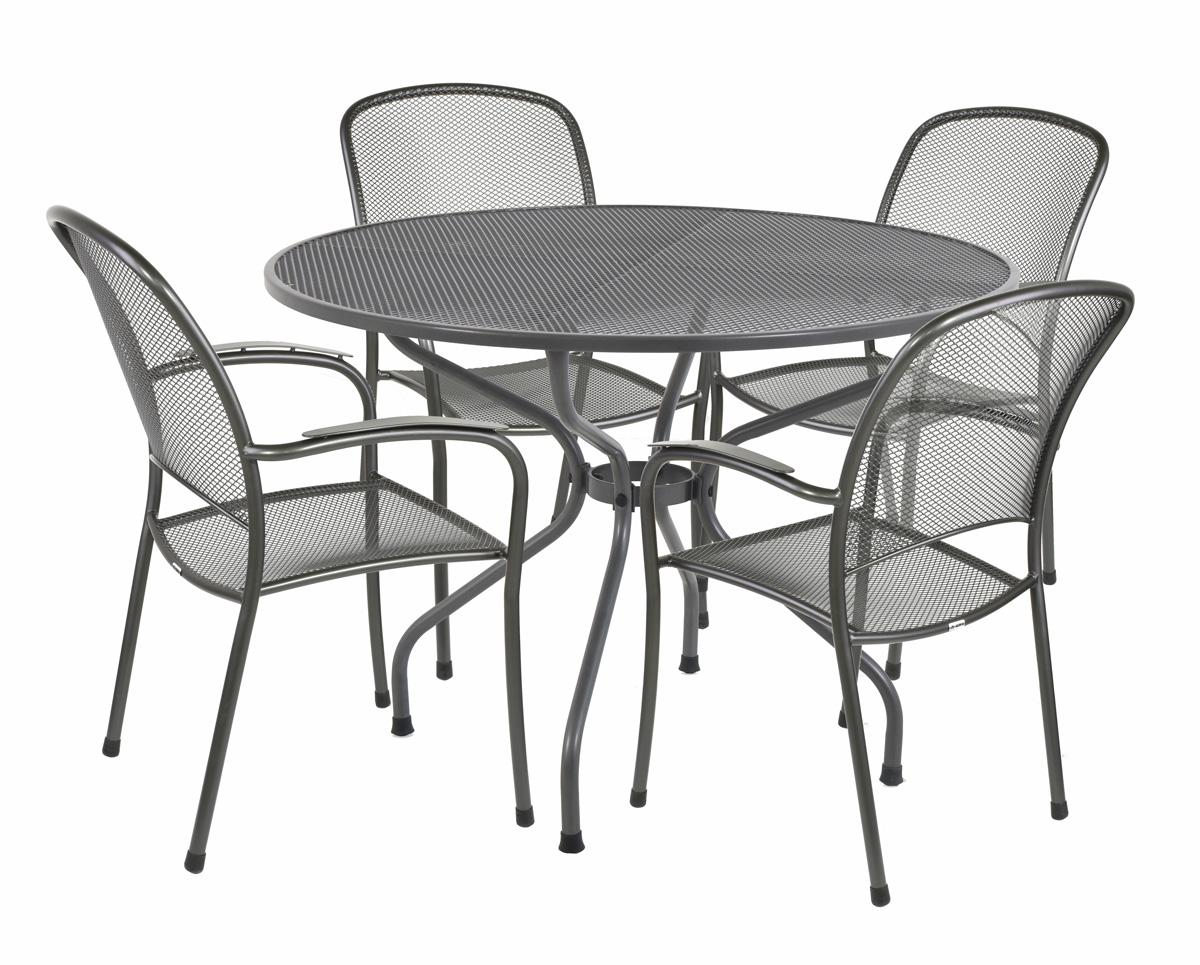 Garland Cavera 4+ - sestava nábytku z tahokovu (4x židle Carlo, 1x stůl Royal Verso)