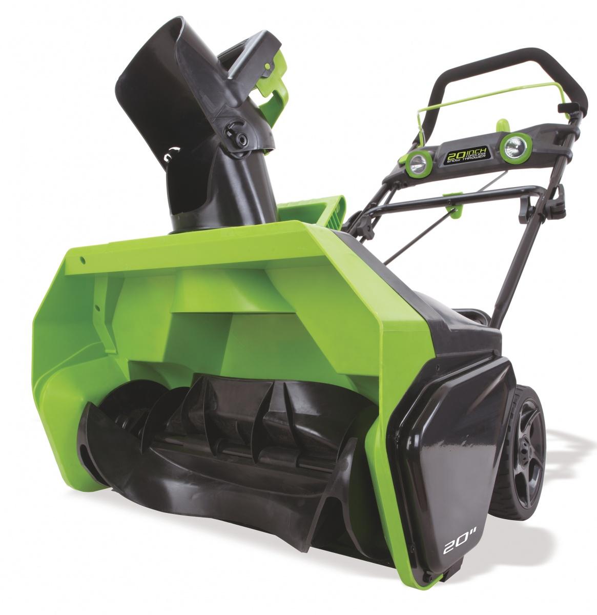 Greenworks GD40SB - akumulátorová sněhová fréza 40 V s indukčním motorem
