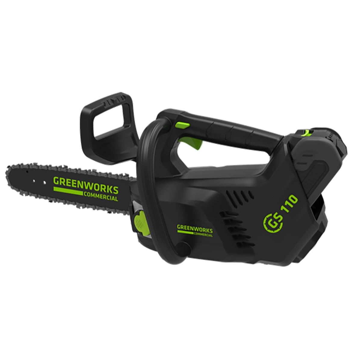 Greenworks GD40TCS - aku 40 V vyvětvovací pila 25 cm s bezuhlíkovým motorem
