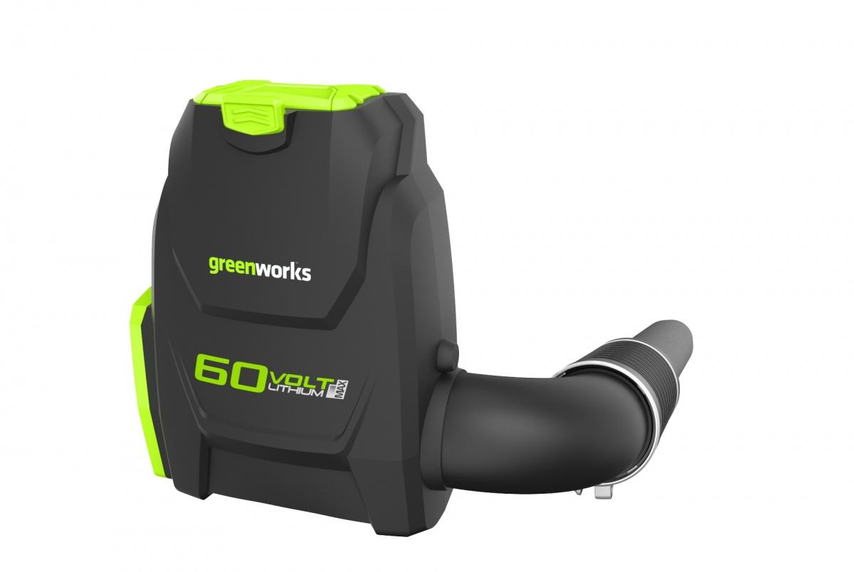 Greenworks GD60BLB - 60 V zádový aku foukač s indukčním motorem