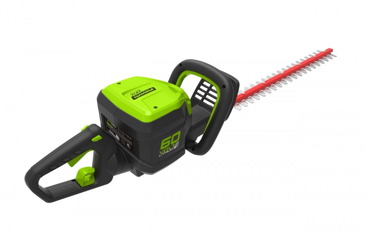 Greenworks GD60HT - 60 V aku plotostřih 66 cm s indukčním motorem