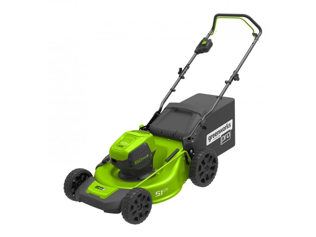 Greenworks GD60LM51HP - 60 V aku travní sekačka 51 cm 3 v 1 s indukčním motorem