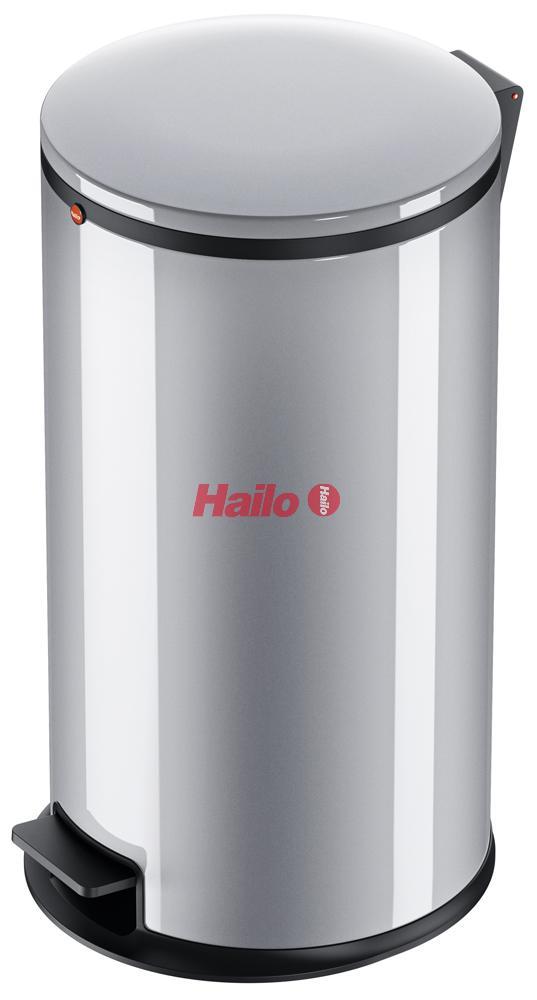 Hailo Pure L stříbrný - designový odpadkový koš
