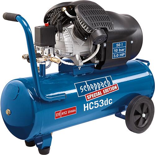 HC 53 dc - dvouválcový olejový kompresor 10 barů se vzdušníkem 50 l