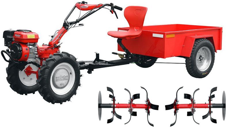 HECHT 7100 SET - malotraktor s vozíkem včetně kultivátoru