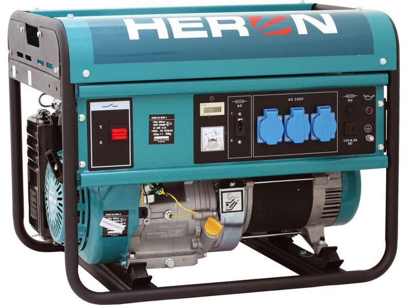 HERON EGM 55 AVR-1 - elektrocentrála benzínová 13HP pro svařování 5,5 kW