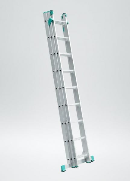 7808 - žebřík trojdílný univerzální s úpravou na schody 3 x 8 příček