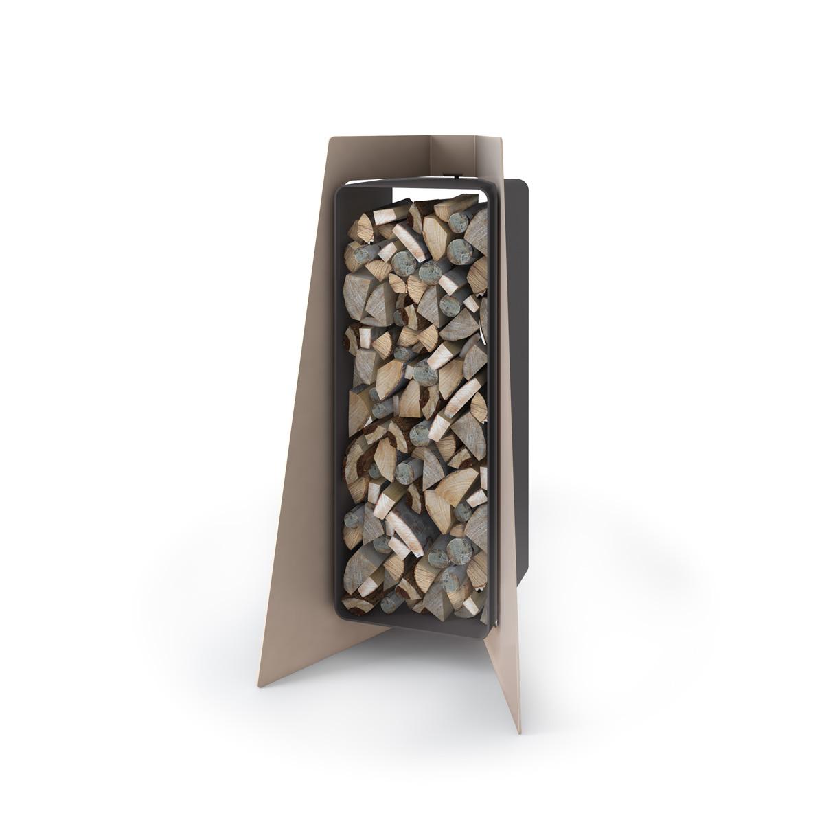Stojan na dřevo FD1 krém metal