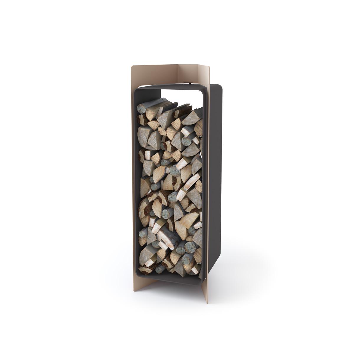 Stojan na dřevo FD3 krém metal