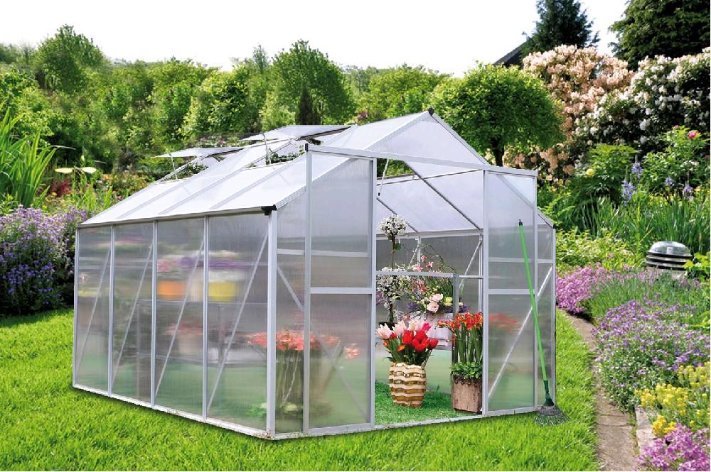 KOMFORT 7550 STRONG - hliníkový skleník s polykarbonátem + základna ZDARMA