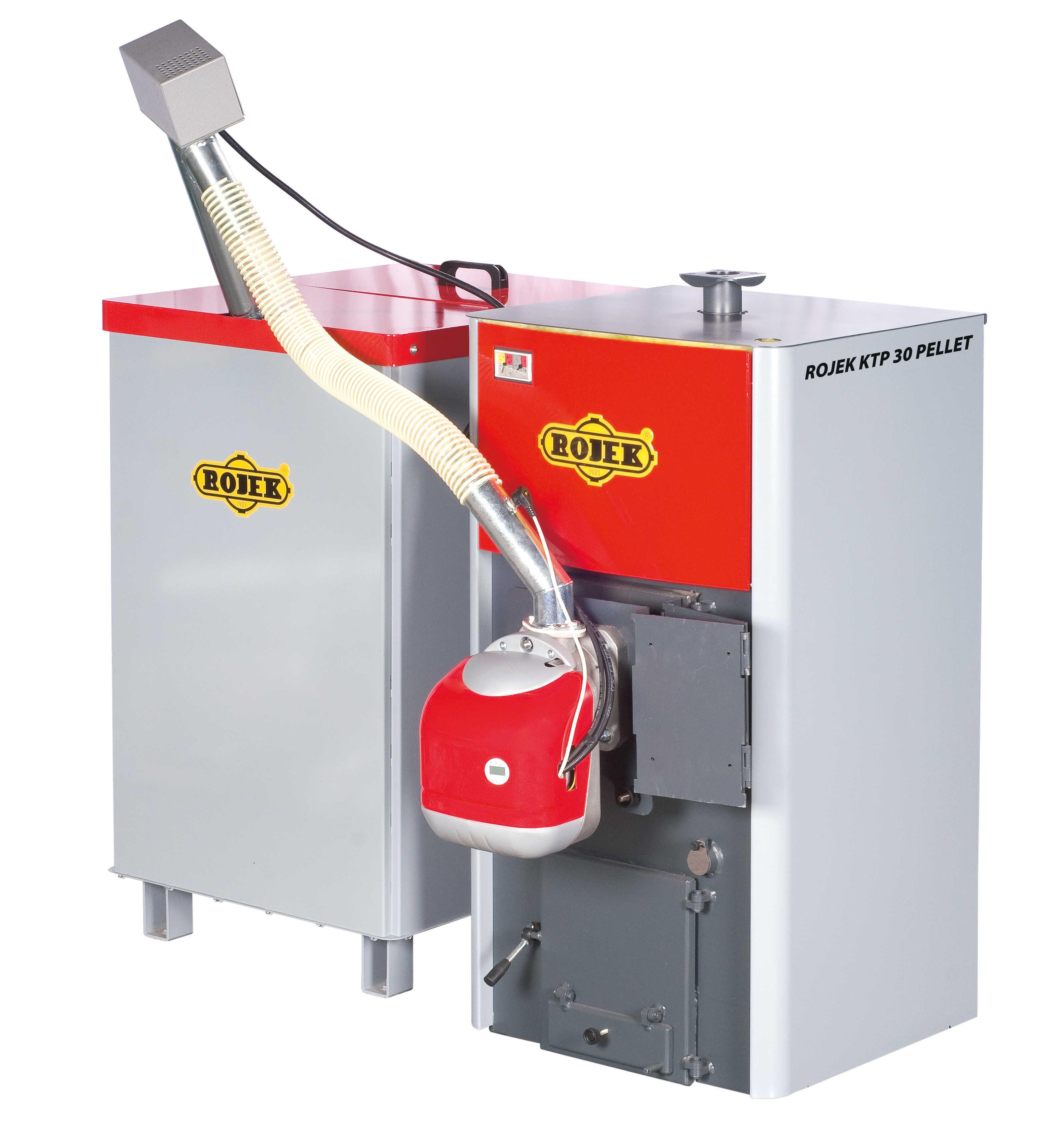 KTP 30 PELLET - automatický teplovodní kotel na dřevěné pelety