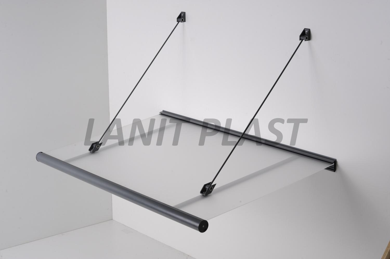 LanitPlast vchodová stříška KORAL 150 šířka 1500 mm, ocelově šedá