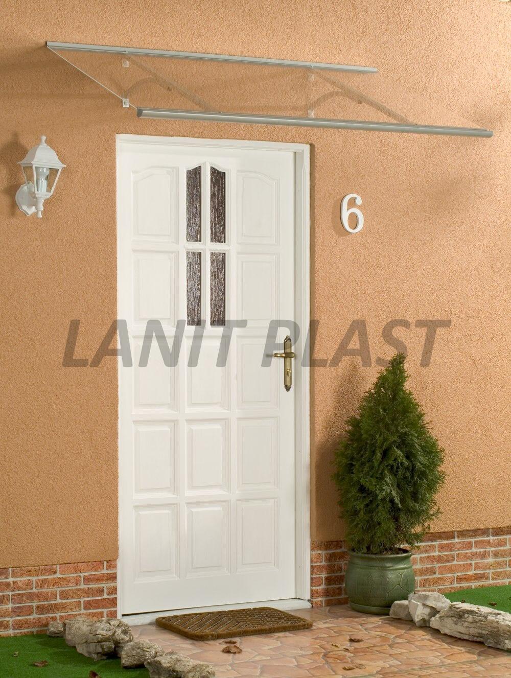 LanitPlast vchodová stříška OTIS 160 šířka 1600 mm, hnědá