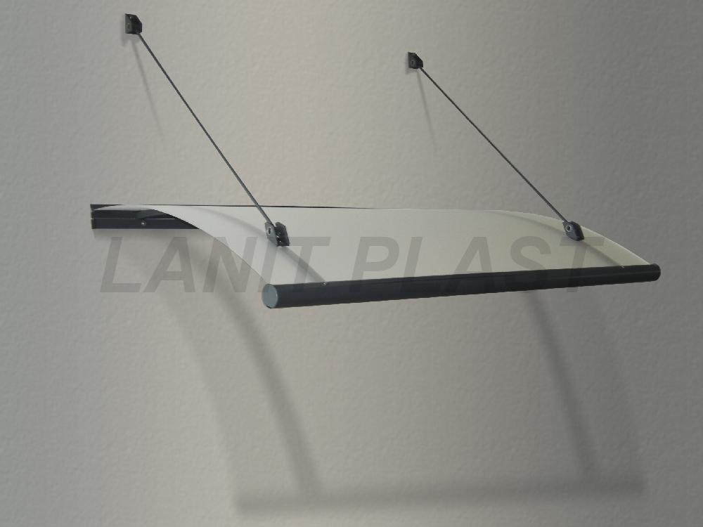 LanitPlast vchodová stříška RUBIN 150 šířka 1500 mm, ocelově šedá