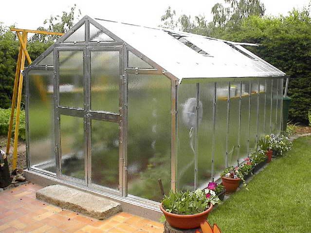 Limes J 6 - pozinkovaný skleník