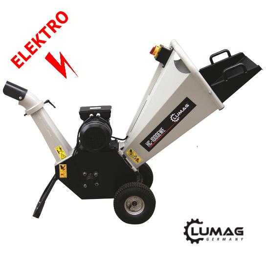 Lumag HC 1000EWE - elektrický drtič dřeva - štěpkovač