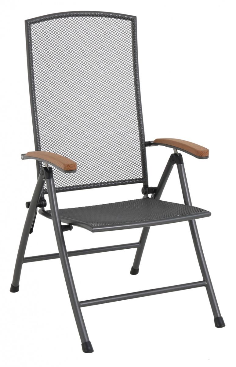 Masao - polohovatelná židle z tahokovu 70 x 59 x 109 cm