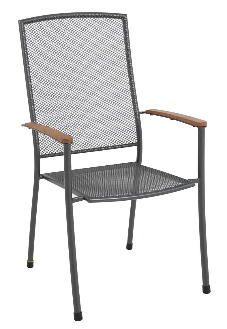 Masao - stohovatelná židle z tahokovu 66,5 x 57,5 x 101 cm