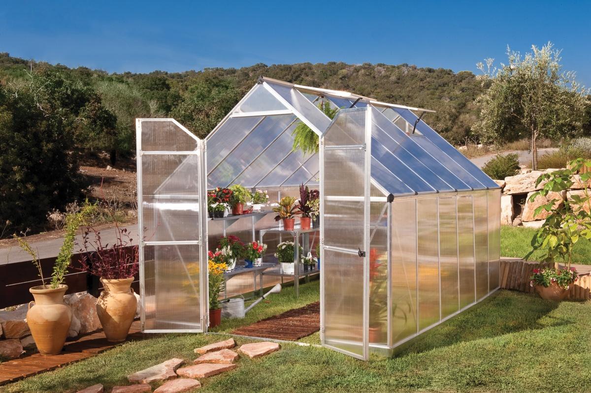 PALRAM ESSENCE 8 x 12 SILVER - polykarbonátový skleník