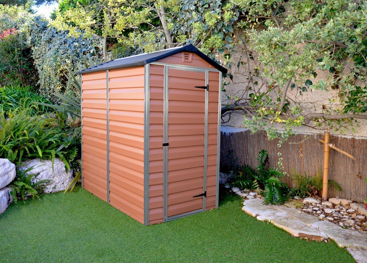 PALRAM SKYLIGHT 4 x 6 HNĚDÝ - zahradní domek