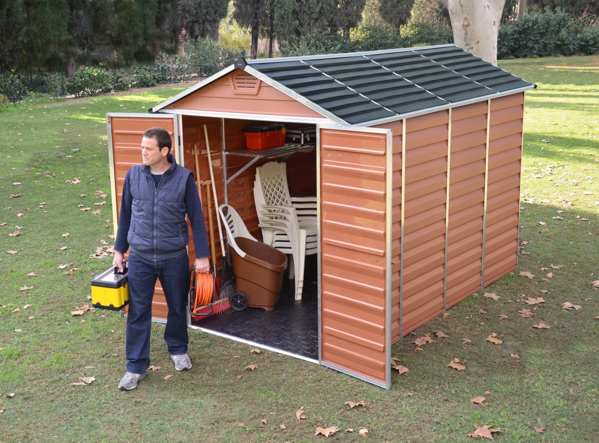 PALRAM SKYLIGHT 6 x 10 HNĚDÝ - zahradní domek