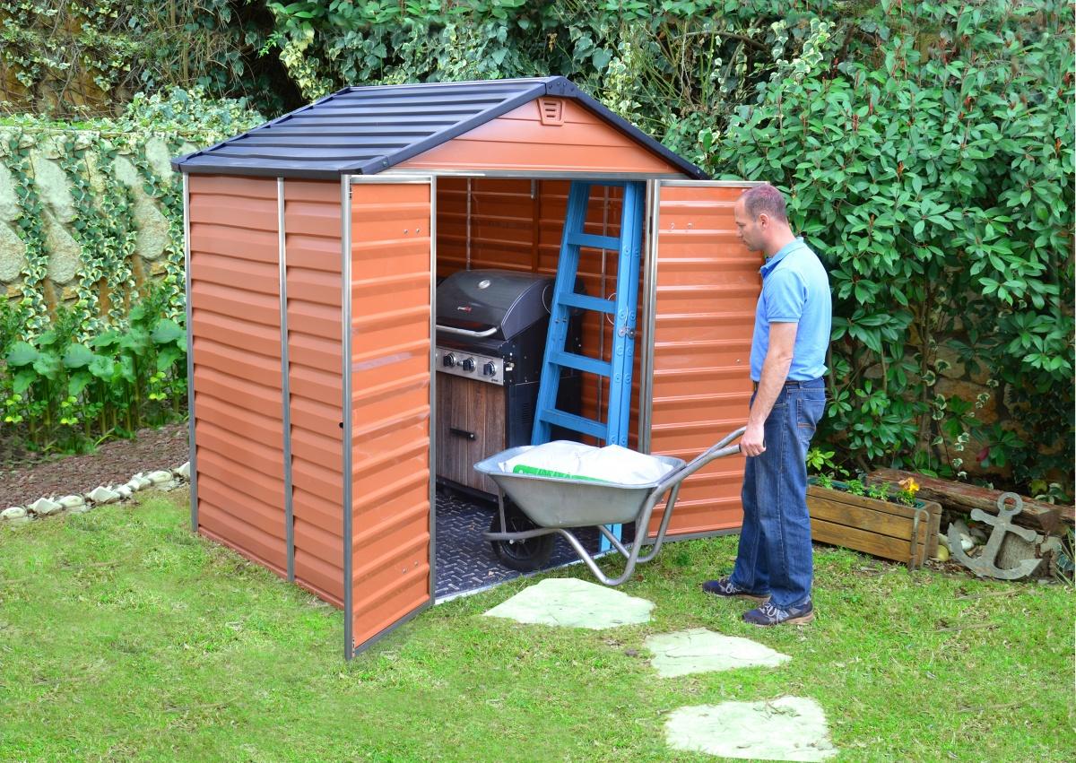 PALRAM SKYLIGHT 6 x 5 HNĚDÝ - zahradní domek