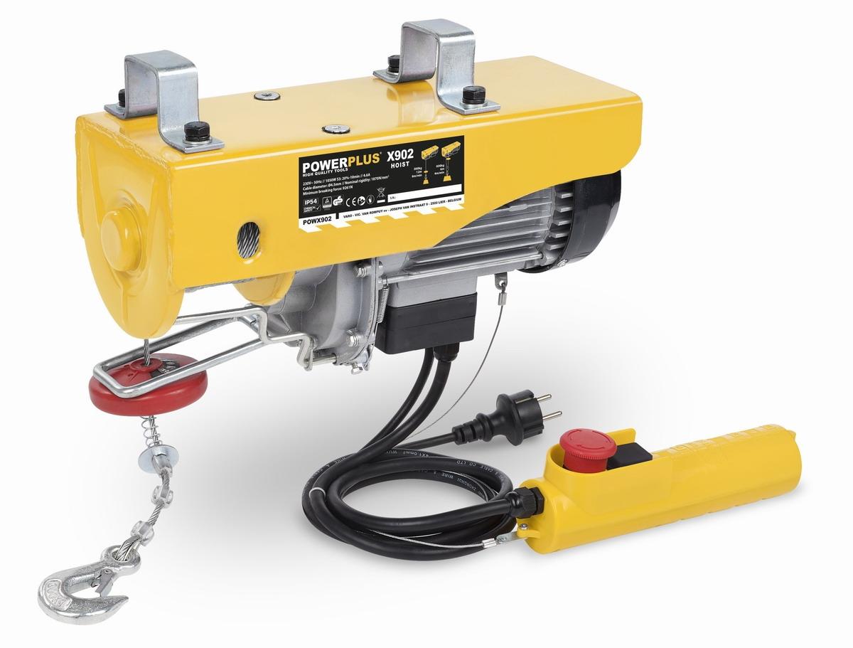 PowerPlus POWX902 - Zdvihací zařízení (kočka) 1 050 W 300-600Kg