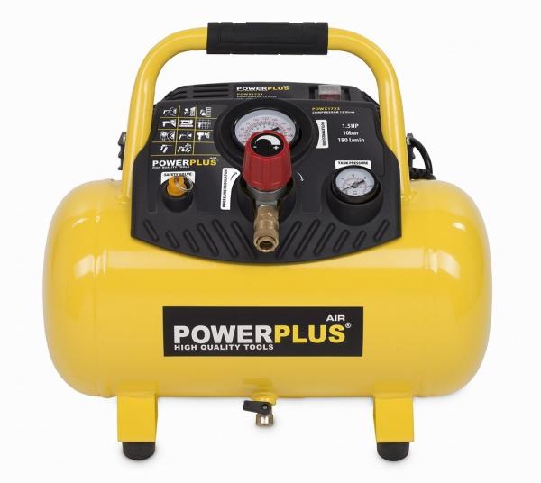 POWX1723 - Kompresor 1 100 W / 12 L - bezolejový