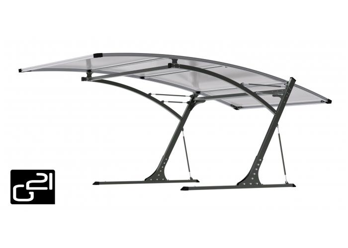 Přístřešek pro automobil G21 Carport black/grey