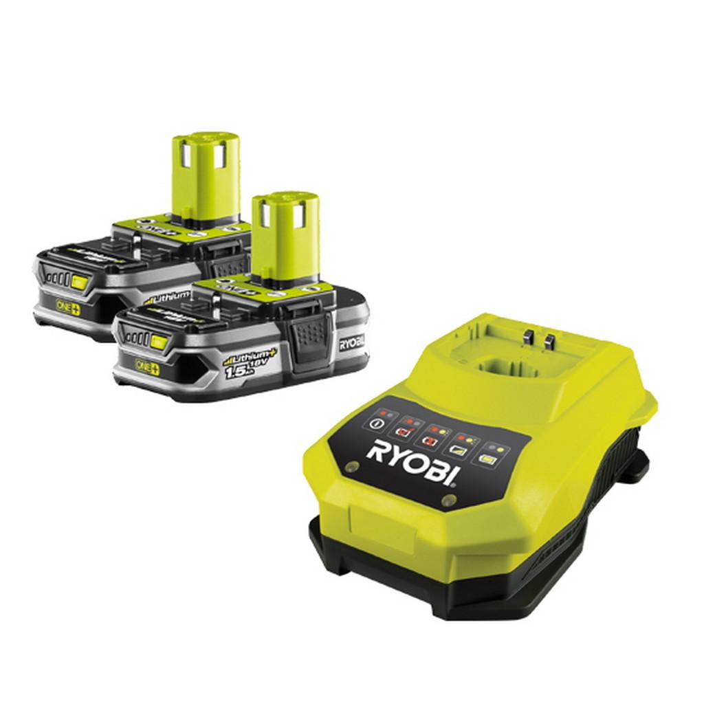 RBC18 LL15 - sada 2x 18 V lithium iontová baterie 1,5 Ah s nabíječkou