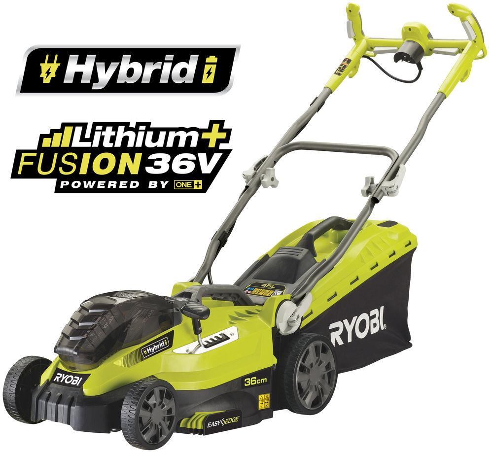 Ryobi RLM18C36H225 - hybridní travní sekačka s elektrickým motorem