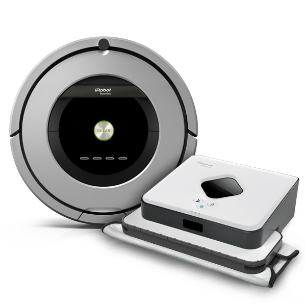 Set iRobot Roomba 886 + Braava 390